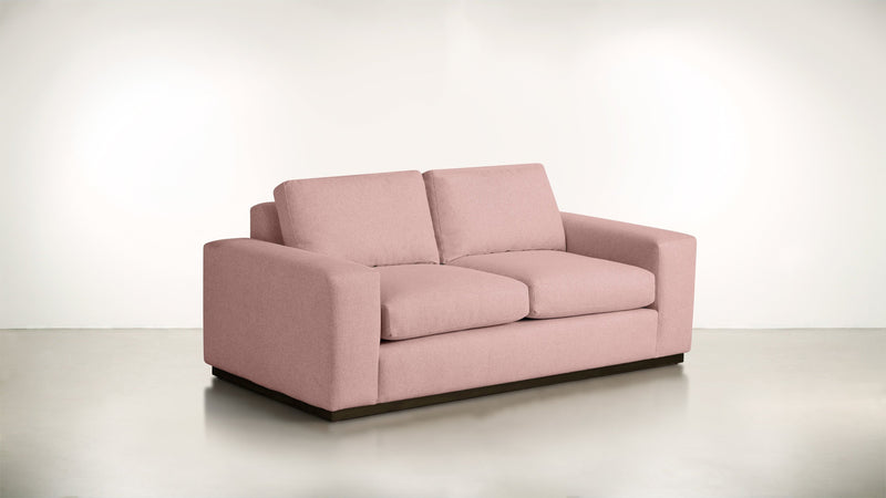 The Pragmatist Sofa 5' Sofa Velvet Knit Blush / Chocolate Whom. Home