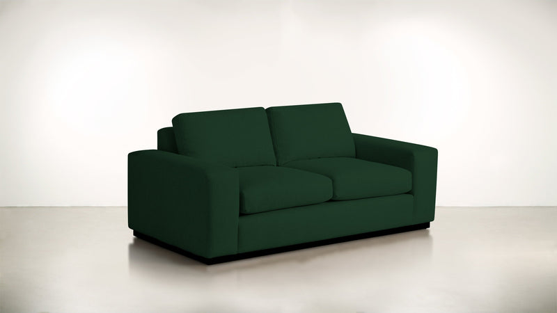 The Pragmatist Sofa 5' Sofa Velvet Knit Evergreen / Blackw Whom. Home