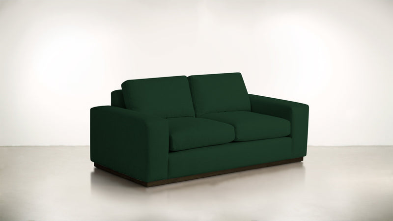 The Pragmatist Sofa 5' Sofa Velvet Knit Evergreen / Chocolate Whom. Home