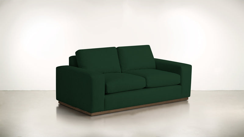 The Pragmatist Sofa 5' Sofa Velvet Knit Evergreen / Hazel Whom. Home