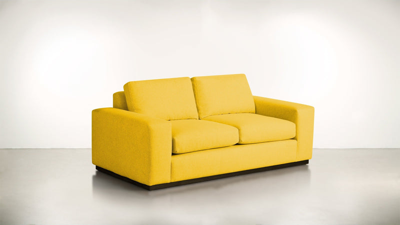The Pragmatist Sofa 5' Sofa Velvet Knit Marigold / Chocolate Whom. Home