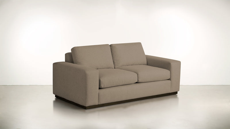 The Pragmatist Sofa 5' Sofa Velvet Knit Mondo / Chocolate Whom. Home