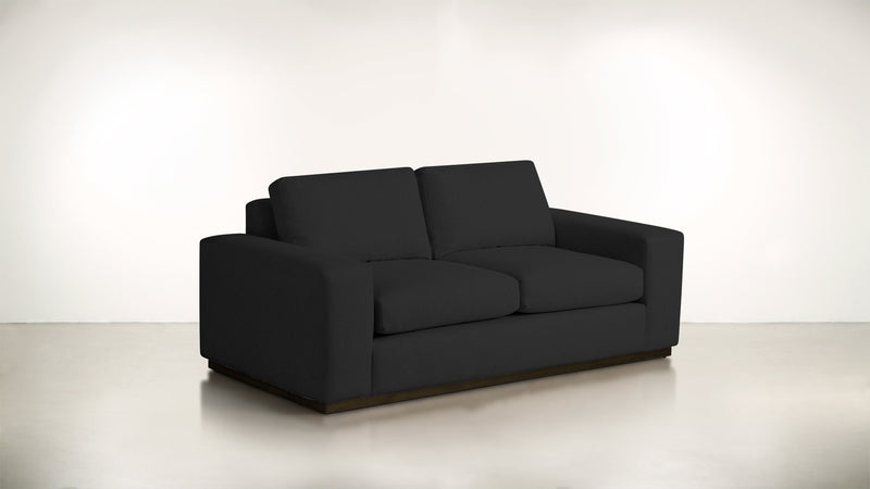 The Pragmatist Sofa 5' Sofa Velvet Knit Onyx / Chocolate Whom. Home