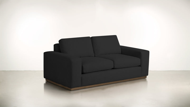 The Pragmatist Sofa 5' Sofa Velvet Knit Onyx / Hazel Whom. Home