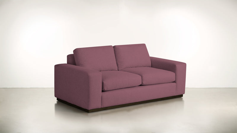 The Pragmatist Sofa 5' Sofa Velvet Knit Rose / Chocolate Whom. Home