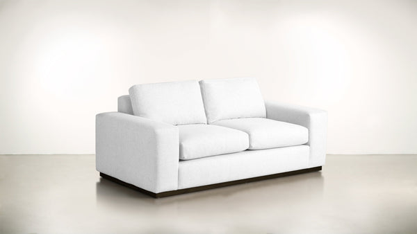 The Pragmatist Sofa 5' Sofa Velvet Knit White / Chocolate Whom. Home
