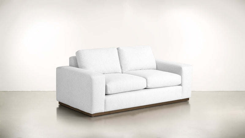 The Pragmatist Sofa 5' Sofa Velvet Knit White / Hazel Whom. Home