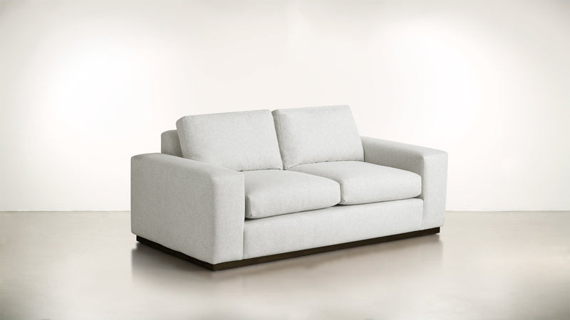 The Pragmatist Sofa 6' Sofa Boucle Knit Snow / Chocolate Whom. Home