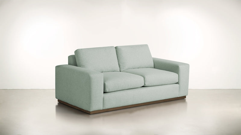 The Pragmatist Sofa 6' Sofa Lightweight Micro-Chenille Spa / Hazel Whom. Home