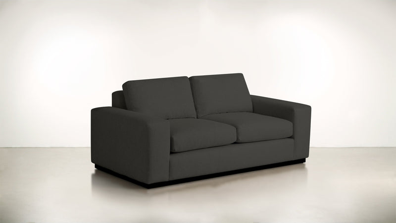 The Pragmatist Sofa 6' Sofa Soft Heathered Weave Charcoal / Blackw Whom. Home