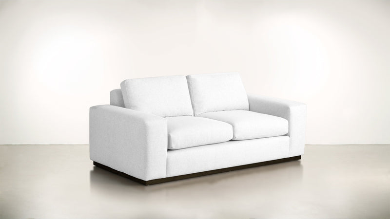 The Pragmatist Sofa 6' Sofa Velvet Knit White / Chocolate Whom. Home
