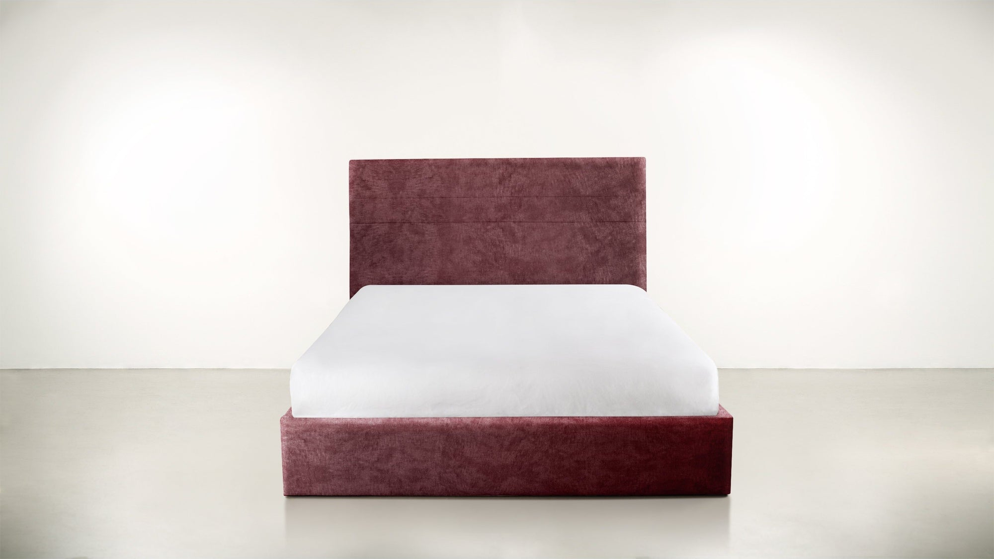 The Prophetess Queen Bed Crushed Micro-Chenille Bordeaux Whom. Home