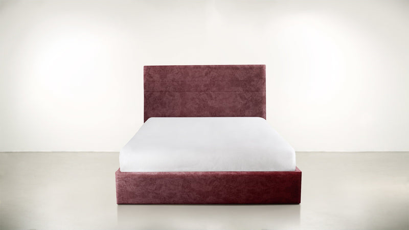 The Prophetess Queen Bed Queen Bed Crushed Micro-Chenille Bordeaux Whom. Home