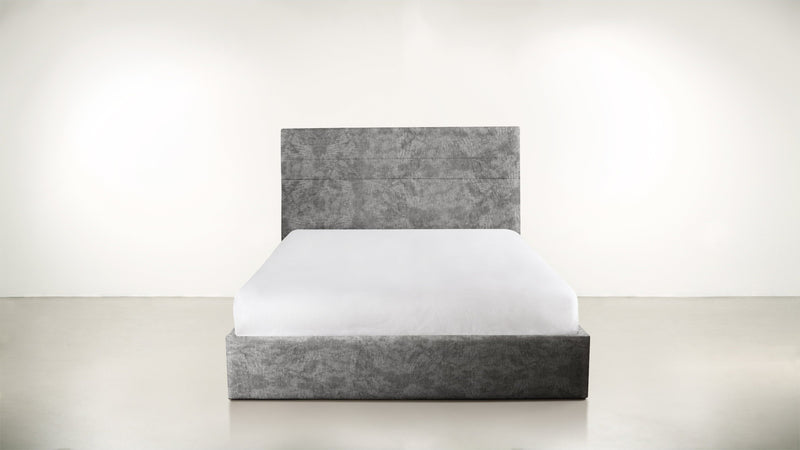 The Prophetess Queen Bed Queen Bed Crushed Micro-Chenille Granite Whom. Home