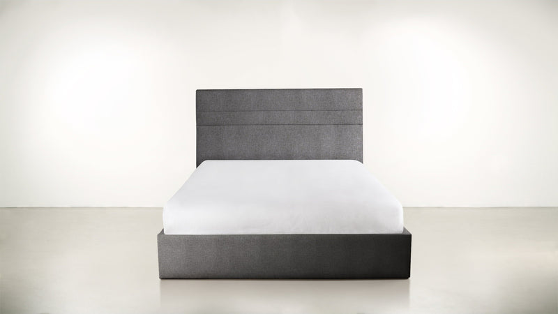 The Prophetess Queen Bed Queen Bed Soft Heathered Weave Charcoal Whom. Home