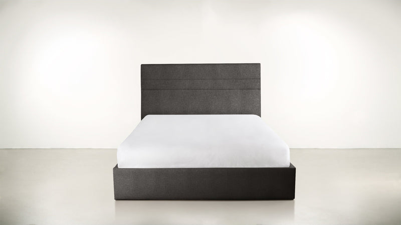 The Prophetess Queen Bed Queen Bed Structured Linen Weave Charcoal Whom. Home