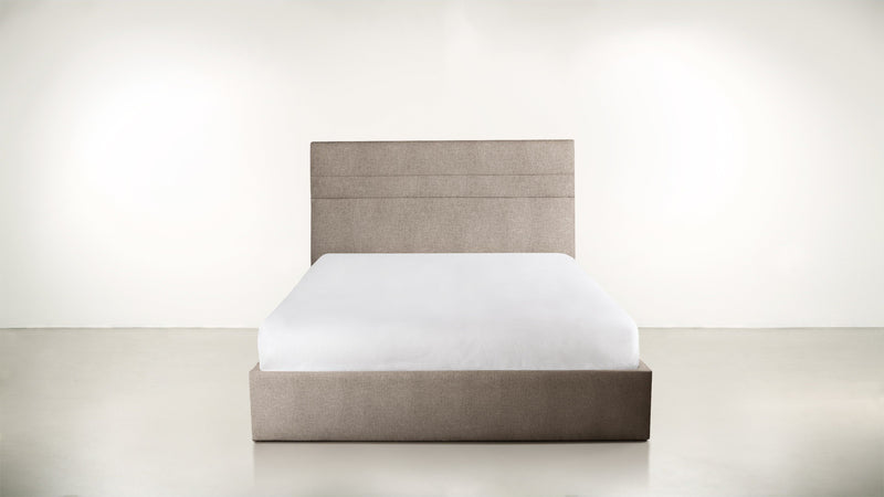 The Prophetess Queen Bed Queen Bed Structured Linen Weave Sand Whom. Home