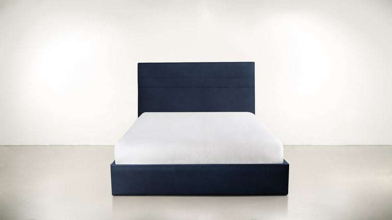 The Prophetess Queen Bed Queen Bed Velvet Knit Cobalt Whom. Home