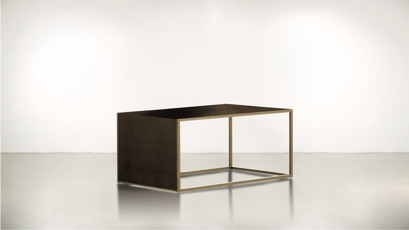 The Radicalist Coffee Table Coffee Table Chocolate / Brass Whom. Home