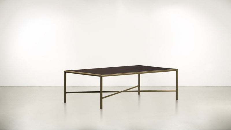 The Realist Coffee Table Coffee Table Chocolate / Brass Whom. Home