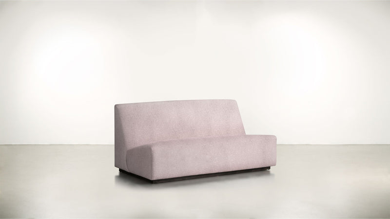 The Rebel Sofa 6' Sofa Classic Linen Weave Blush / Blackw Whom. Home