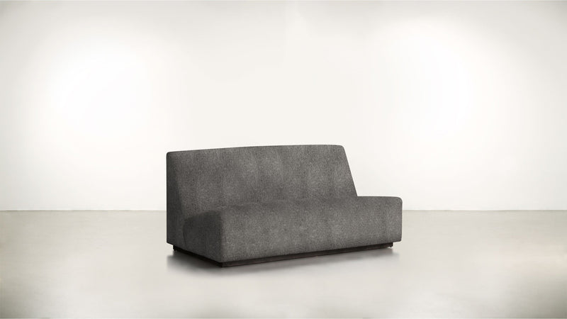The Rebel Sofa 6' Sofa Structured Linen Weave Charcoal / Blackw Whom. Home
