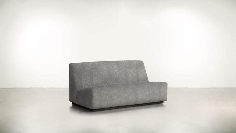 The Rebel Sofa 6' Sofa Structured Linen Weave Steel / Blackw Whom. Home