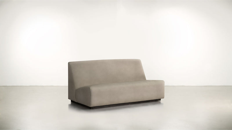 The Rebel Sofa 6' Sofa Structured Velvet Biscotti / Blackw Whom. Home