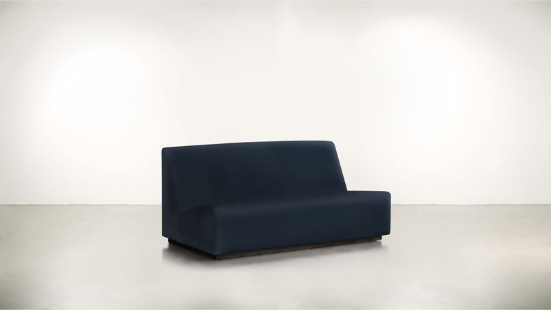 The Rebel Sofa 6' Sofa Structured Velvet Eclipse / Blackw Whom. Home