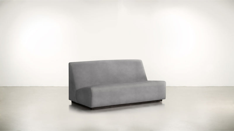 The Rebel Sofa 6' Sofa Structured Velvet Gladiator Gray / Blackw Whom. Home