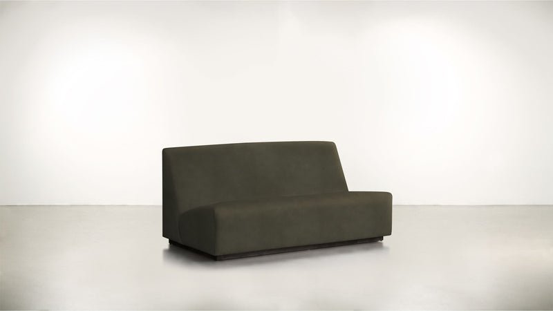 The Rebel Sofa 6' Sofa Structured Velvet Malachite / Blackw Whom. Home