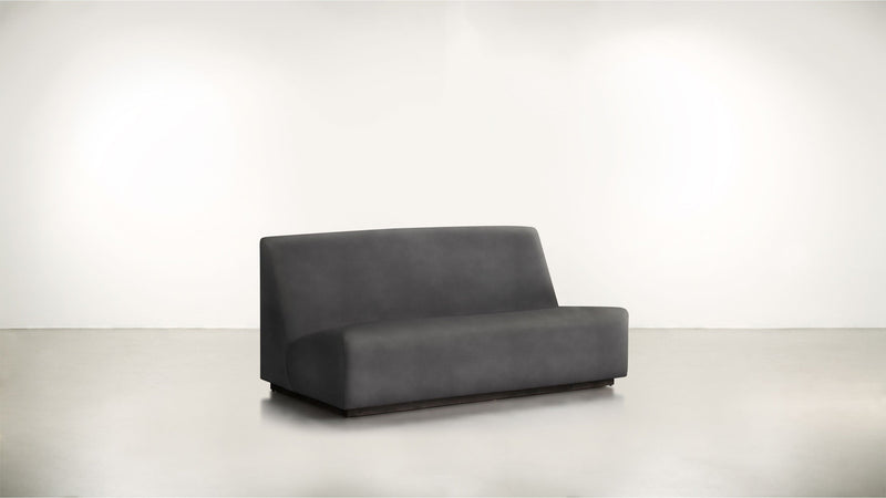 The Rebel Sofa 6' Sofa Structured Velvet Sterling / Blackw Whom. Home