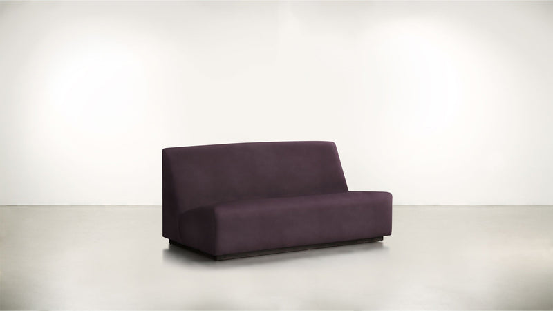The Rebel Sofa 6' Sofa Structured Velvet Vineyard / Blackw Whom. Home