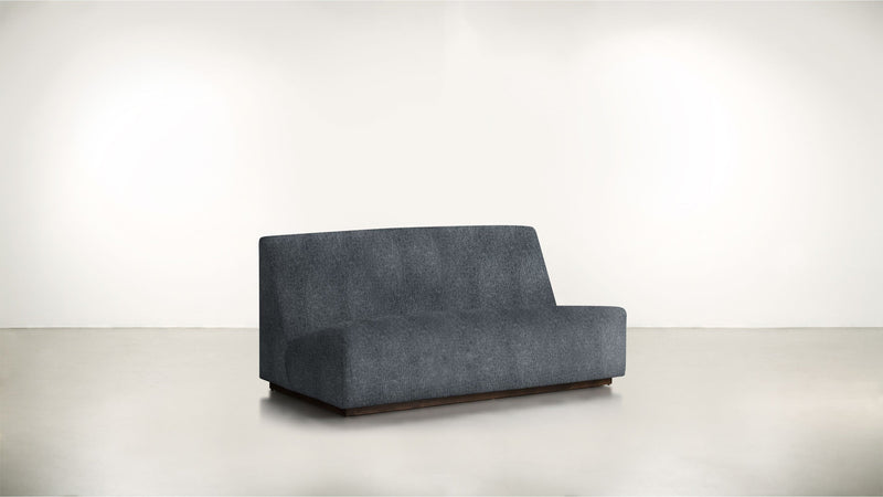 The Rebel Sofa 6' Sofa Classic Linen Weave Navy / Chocolate Whom. Home
