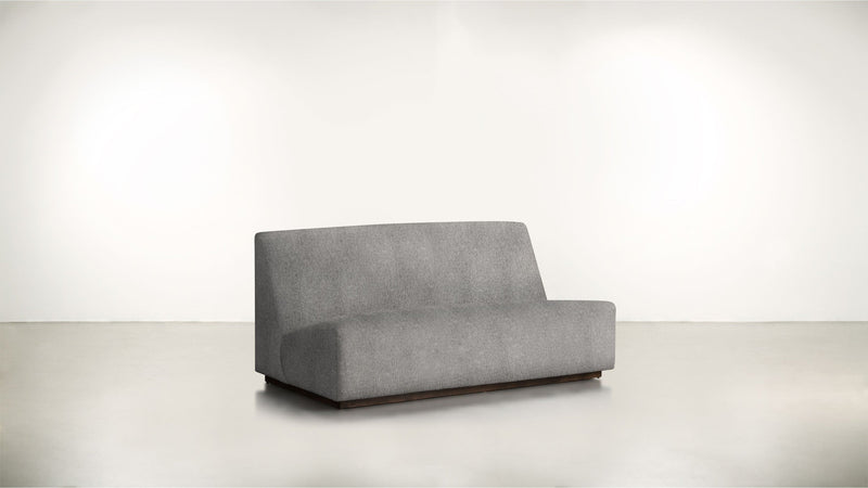 The Rebel Sofa 6' Sofa Classic Linen Weave Smoke / Chocolate Whom. Home