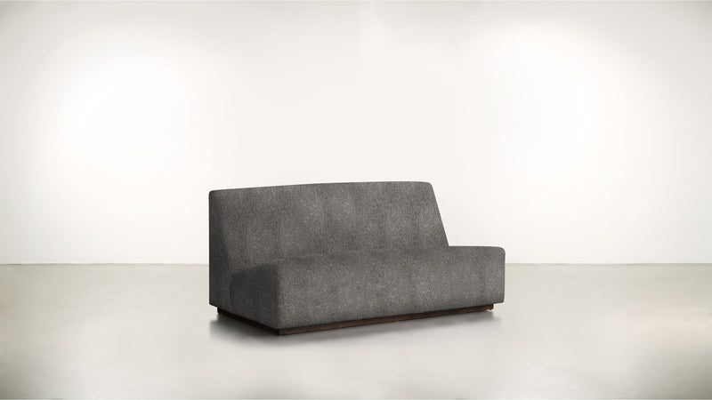The Rebel Sofa 6' Sofa Structured Linen Weave Charcoal / Chocolate Whom. Home