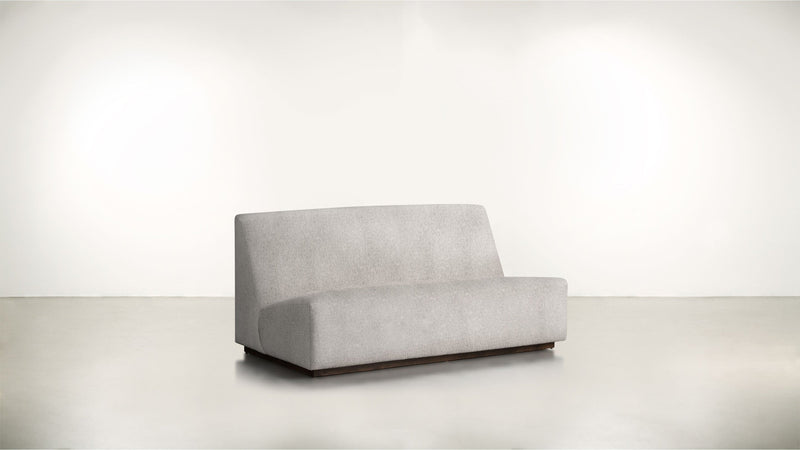 The Rebel Sofa 6' Sofa Structured Linen Weave Dove / Chocolate Whom. Home