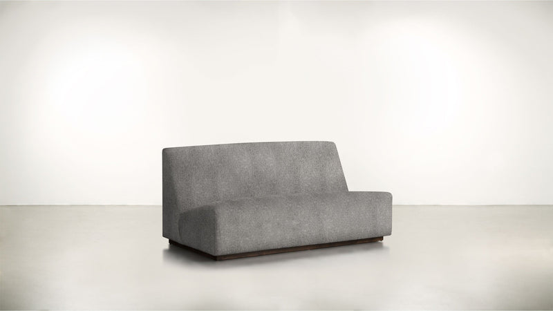The Rebel Sofa 6' Sofa Structured Linen Weave Steel / Chocolate Whom. Home