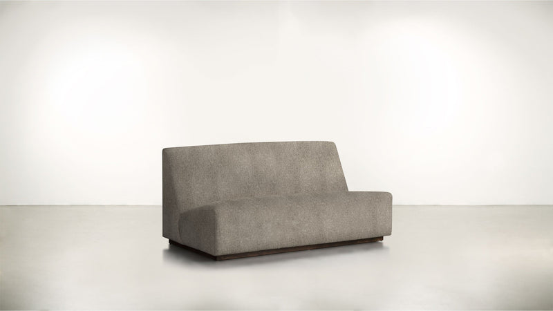 The Rebel Sofa 6' Sofa Structured Linen Weave Taupe / Chocolate Whom. Home