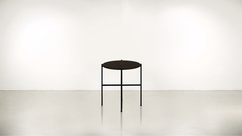 The Sentinel Short Side Table Short Side Table Black / Chocolate Whom. Home
