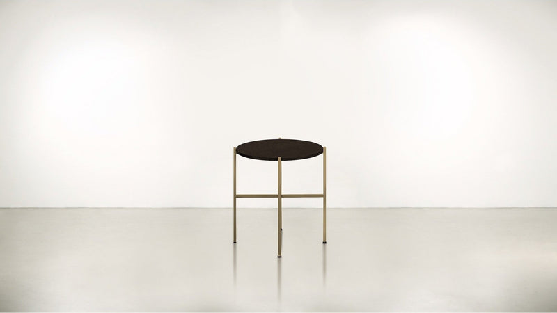 The Sentinel Short Side Table Short Side Table Brass / Chocolate Whom. Home