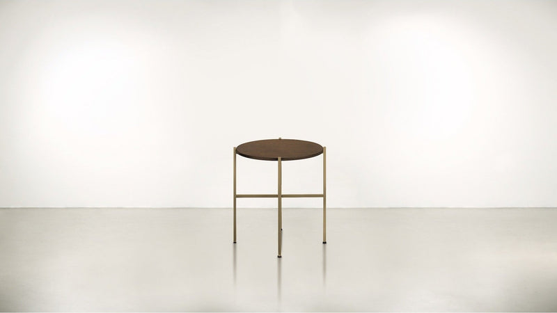 The Sentinel Short Side Table Short Side Table Brass / Hazel Whom. Home