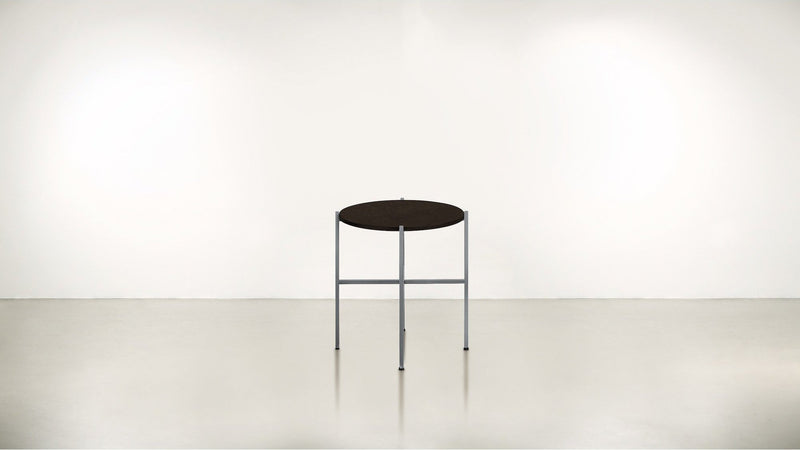 The Sentinel Short Side Table Short Side Table Silver / Chocolate Whom. Home