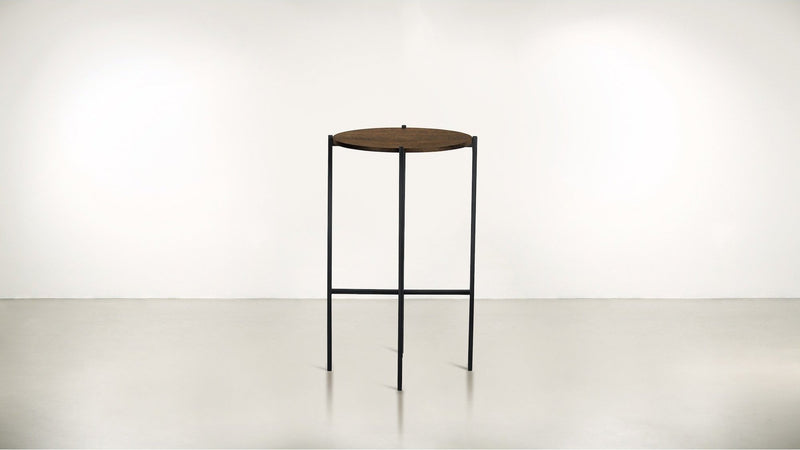 The Sentinel Tall Side Table Tall Side Table Black / Hazel Whom. Home