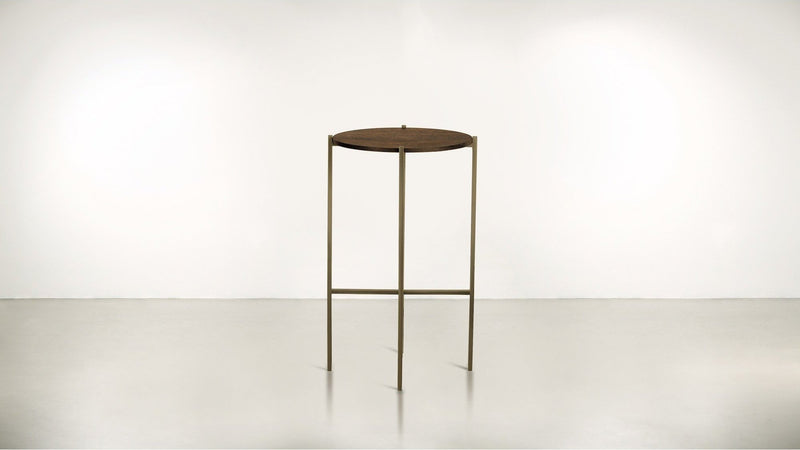 The Sentinel Tall Side Table Tall Side Table Brass / Hazel Whom. Home