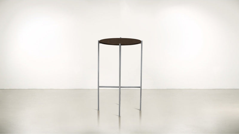 The Sentinel Tall Side Table Tall Side Table Silver / Chocolate Whom. Home