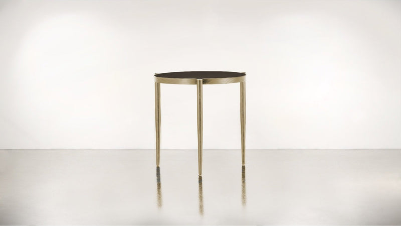 The Sidekick Side Table Side Table Chocolate / Brass Whom. Home