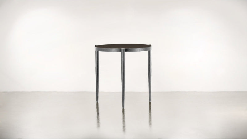 The Sidekick Side Table Side Table Chocolate / Silver Whom. Home