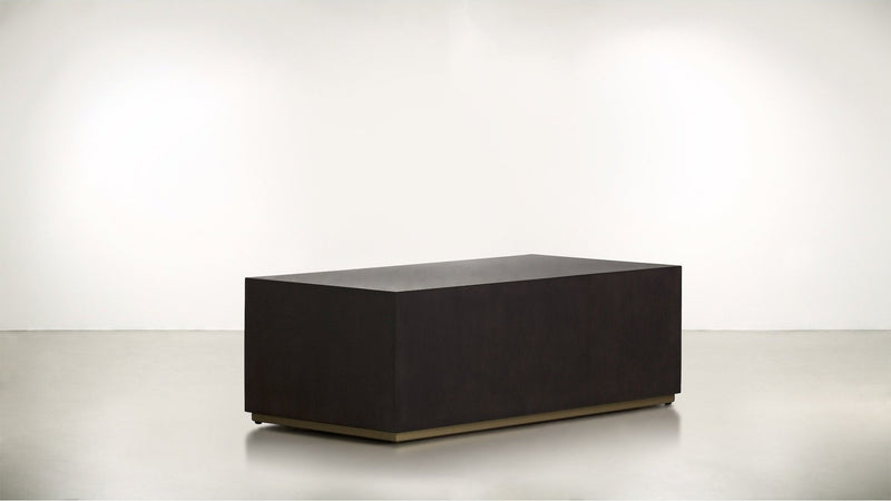 The Simplist Coffee Table Coffee Table Chocolate / Brass Whom. Home