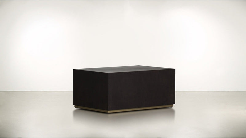 The Simplist Side Table Side Table Chocolate / Brass Whom. Home
